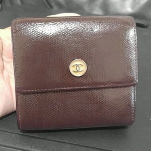 Chanel Compact Lambskin Trifold Wallet